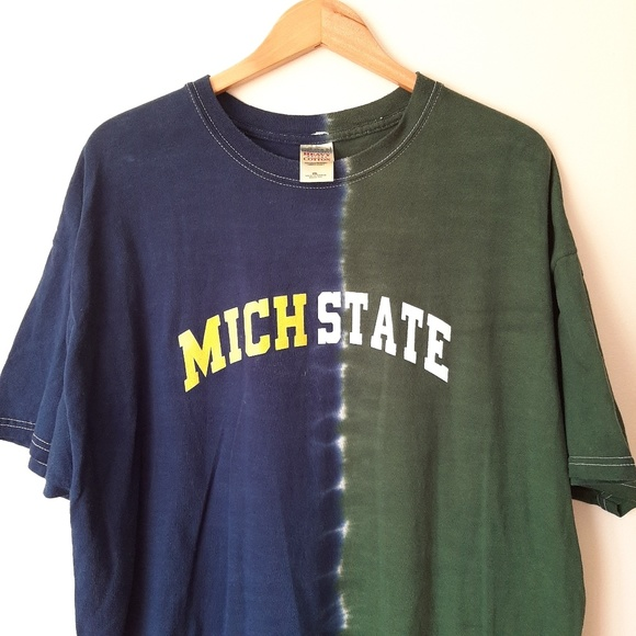 Gildan Other - Michigan State House Divided T-Shirt Football NCAA